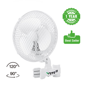 VIVOSUN Grow Tent Clip-on Oscillating Fan (Available to ship Both U.S.A & Canada) - VIVOSUN