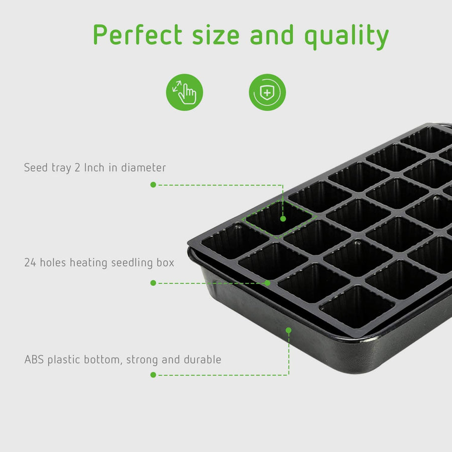 VIVOSUN Heating Seed Starter Germination Kit-Premium Seedling Propagation Dome and Tray with 5 Inch Vented Humidity Dome