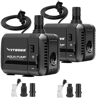 VIVOSUN 2-Pack Submersible Pump, Ultra Quiet with - VIVOSUN