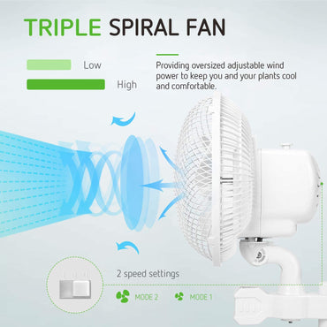 VIVOSUN Grow Tent Oscillating Fan 2-Pack (Available to ship Both U.S.A & Canada) - VIVOSUN