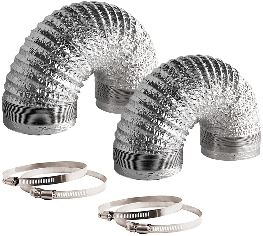 VIVOSUN 2-Pack Non-Insulated Flex Air Aluminum Ducting for HVAC Ventilation - VIVOSUN
