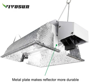 VIVOSUN Compact Reflector Hood for Double Ended HPS Lamps with 98% Reflective Italian Vega Aluminum