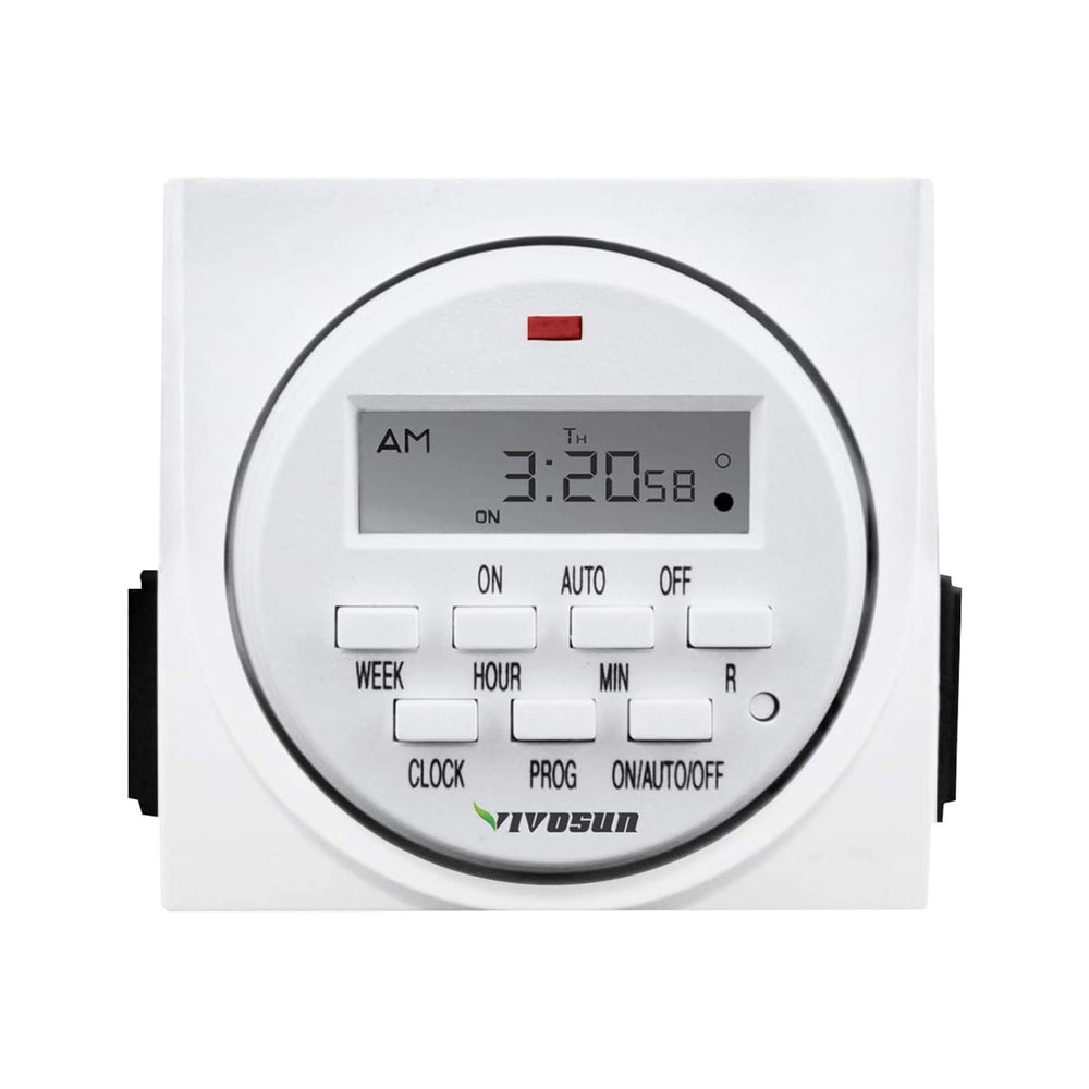 VIVOSUN 7 Day Programmable Digital Timer Switch with 2 Outlets - VIVOSUN