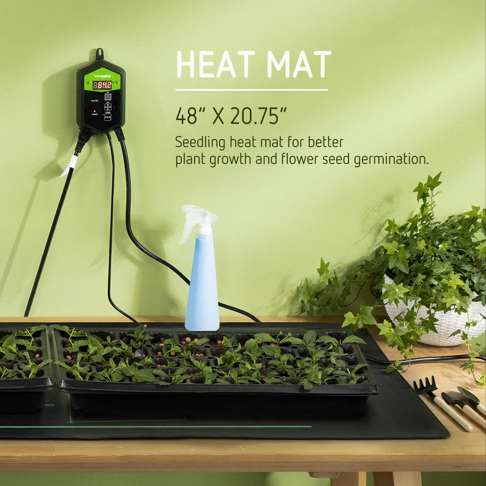 "VIVOSUN Seedling Heat Mat Digital Thermostat Combo 48""x20.75"" - VIVOSUN"