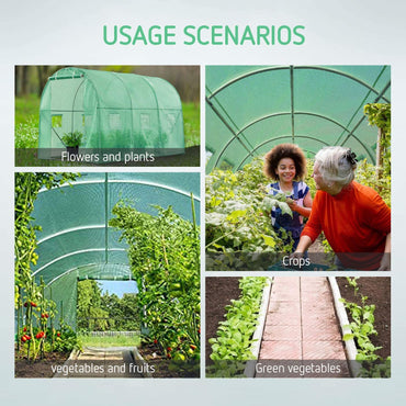VIVOSUN 10x7x7FT Large Walk in Greenhouse Tunnel Garden Plant Hot House - VIVOSUN