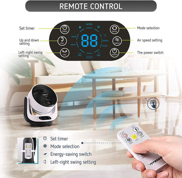 VIVOSUN Remote Control Air Circulator Fan - VIVOSUN