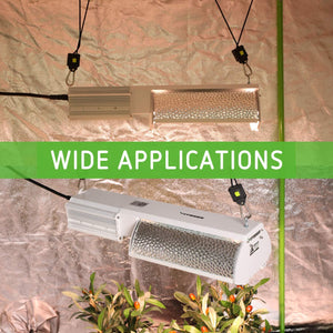 VIVOSUN 5-Mode-Adjust 315W CMH/CDM Grow Light Fixture with 315W Bulb and 1 Pair Rope Hanger