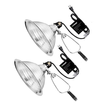 VIVOSUN Clamp Lamp Light with Detachable 8.5 Inch Aluminum Reflector - VIVOSUN