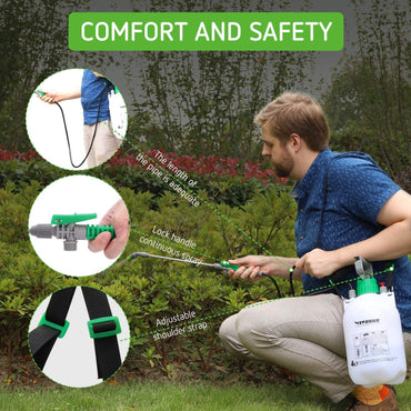 VIVOSUN Pressure Sprayer 3 Water Nozzles with Shoulder Strap - VIVOSUN