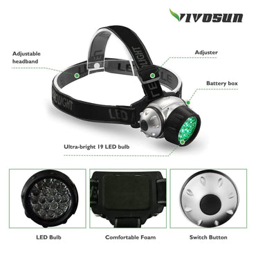 VIVOSUN 19-Bulb LED Green Light Grow Room Headlight - VIVOSUN