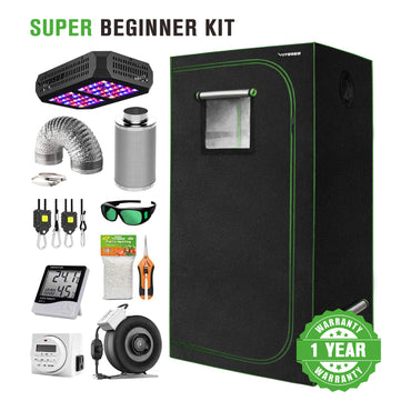 VIVOSUN 2x2x4 Indoor Grow Tent Complete Beginner Kit - VIVOSUN