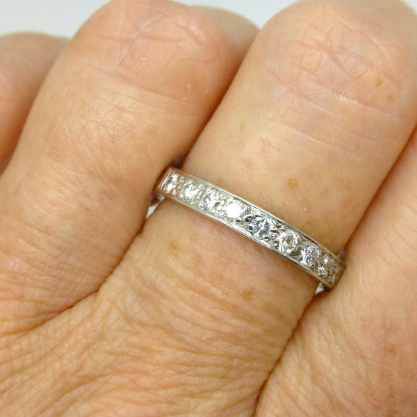 Art Deco style diamond wedding/eternity band
