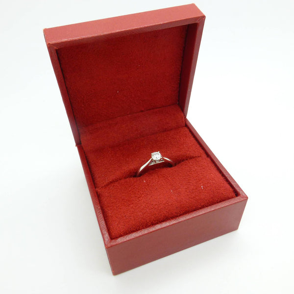 Classic 18ct white gold Diamond solitaire engagement ring 0.33ct ~ With GGI Certificate