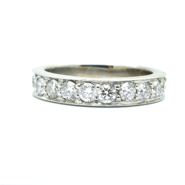 Art Deco Style diamond wedding band
