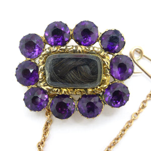 Antique Gold Georgian mourning brooch