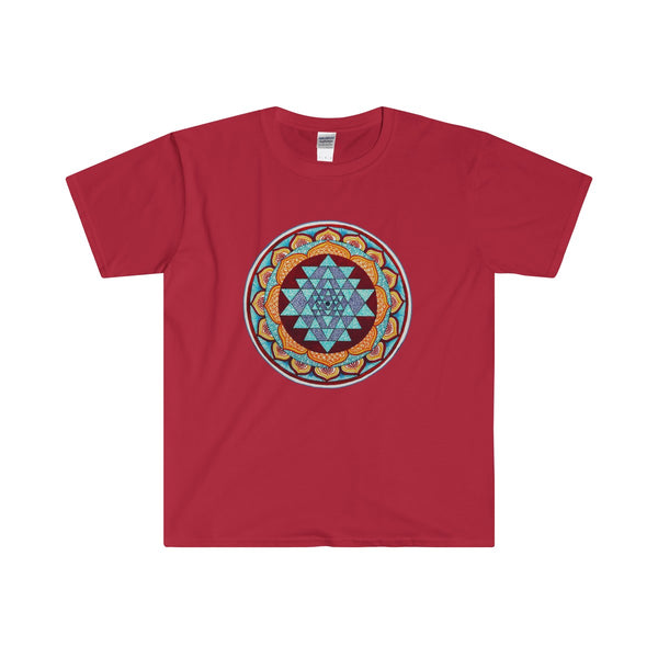 Sri Yantra Mandala Men's Fitted Short Sleeve Tee - DaVatka Fashion