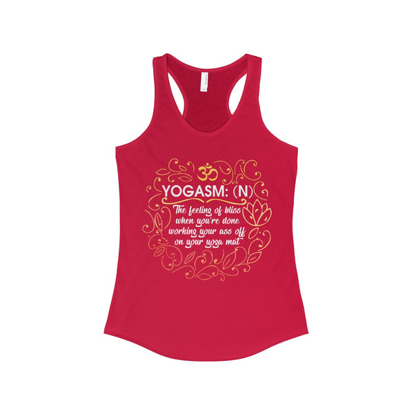 Yogasm, Women's Yoga Meditation Ideal Racerback Tank - DaVatka Fashion