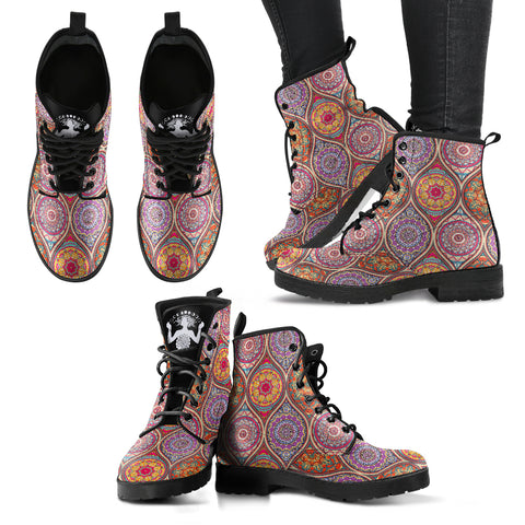 Mandala I - Vegan Women's Boots - DaVatka Fashion