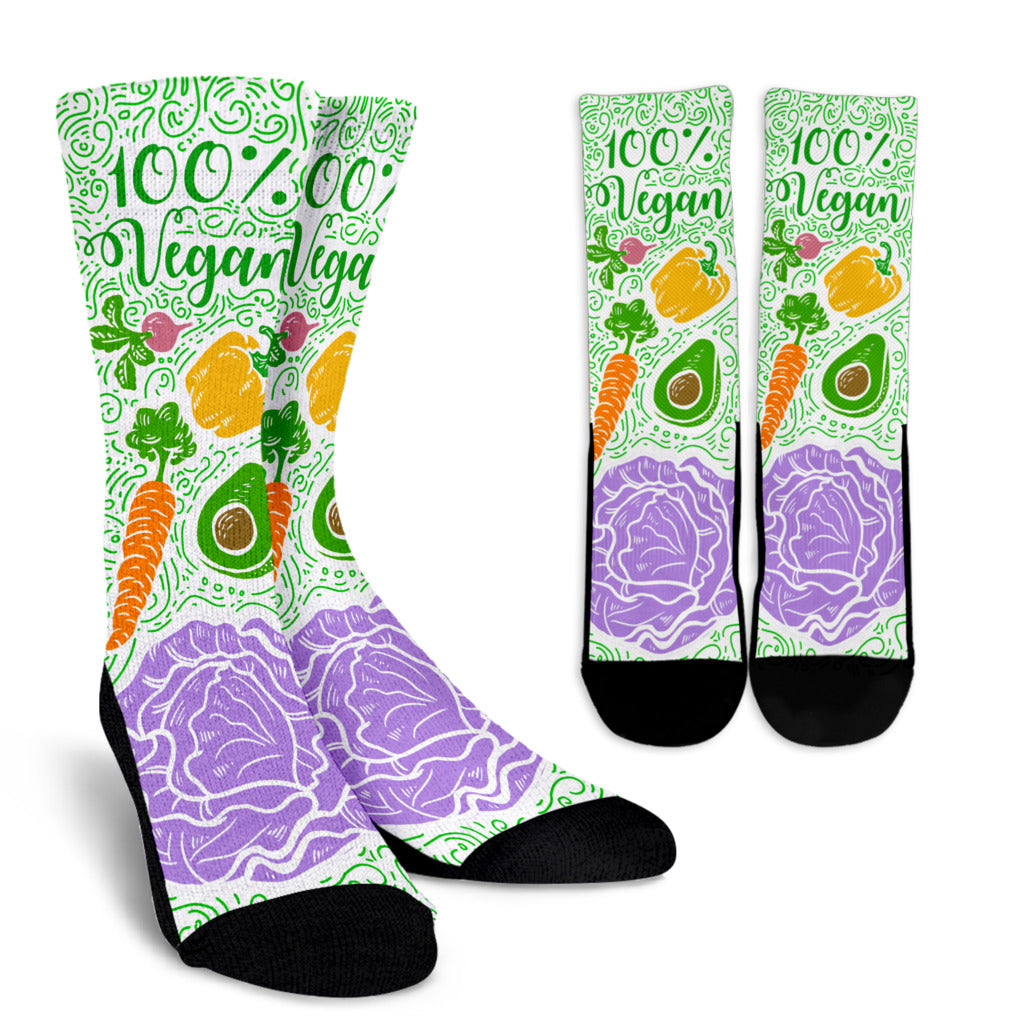Colorful Vegan Crew Socks - DaVatka Fashion