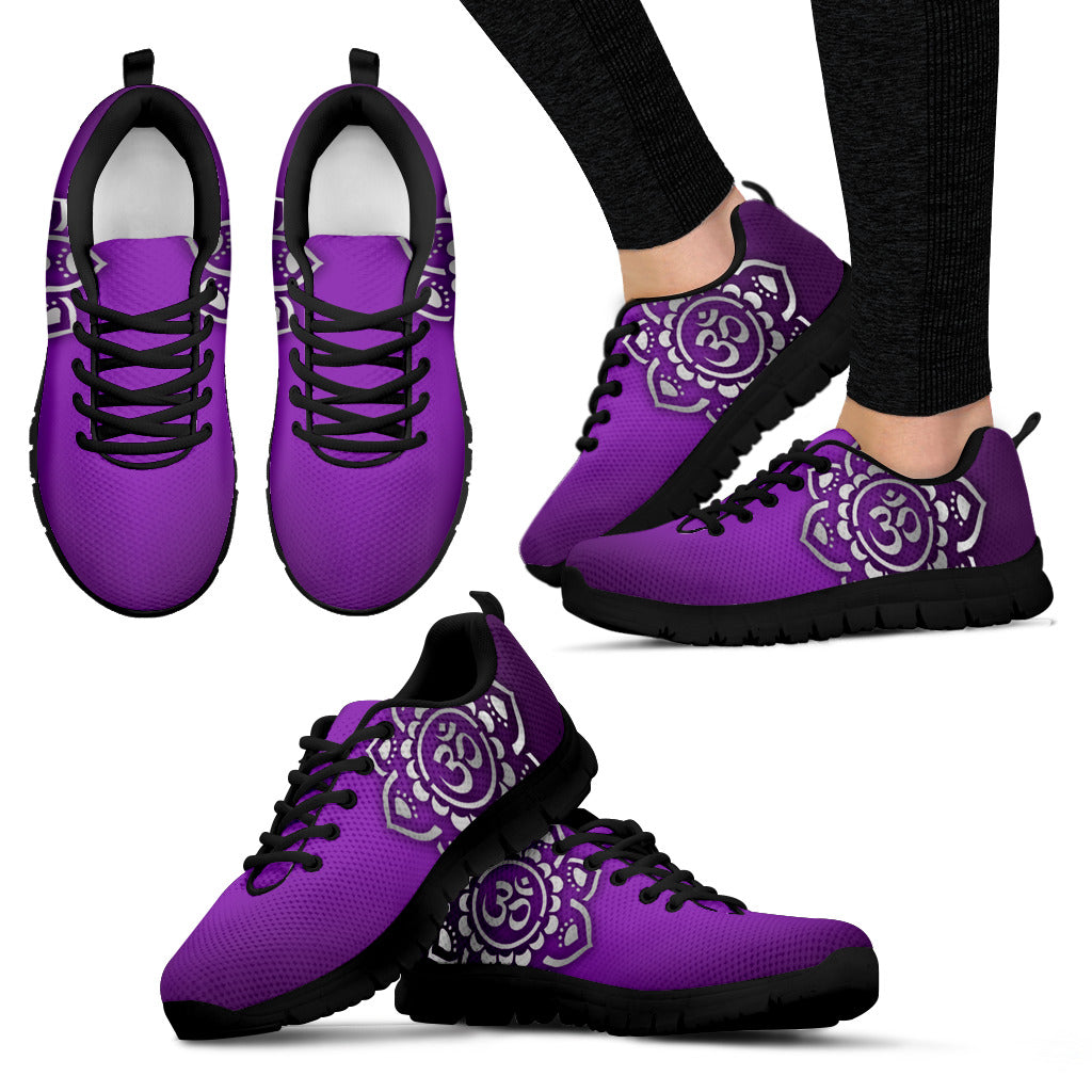 Zen Flower Yoga Women's Sneakers - DaVatka Fashion