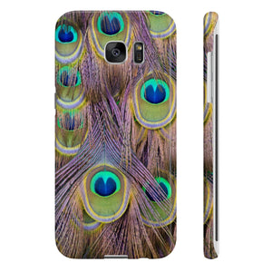 Peacock Feather Pattern Slim Phone Cases - DaVatka Fashion