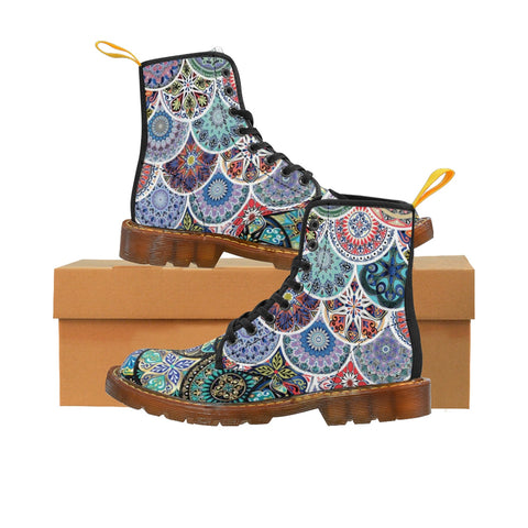 Boho Gypsy Women's Canvas Boots - DaVatka Fashion