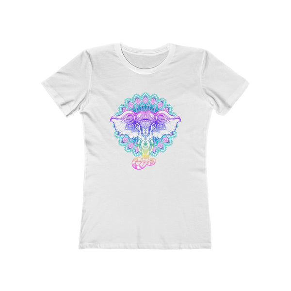 Elephant Yoga Boho Ornament Women's The Boyfriend Tee - DaVatka Fashion