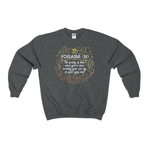 Yogasm Sweatshirt Yoga Funny Quote Unisex Heavy Blend™ Crewneck Jumper - DaVatka Fashion