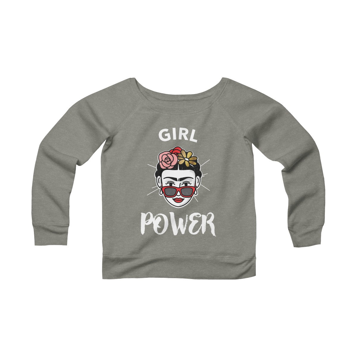 Girl Power Women's Sponge Fleece Wide Neck Sweatshirt - DaVatka Fashion