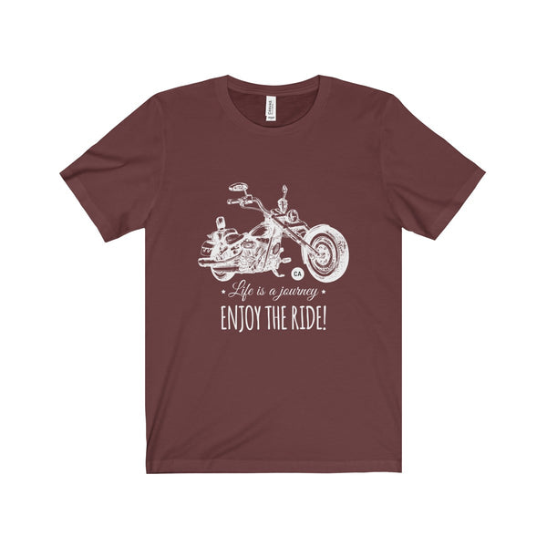 Biker Shirt, Life Is A Journey - Enjoy The Ride Unisex Jersey Short Sleeve Tee - DaVatka Fashion