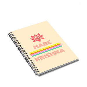 Hare Krishna Spiral Notebook - Ruled Line - DaVatka Fashion