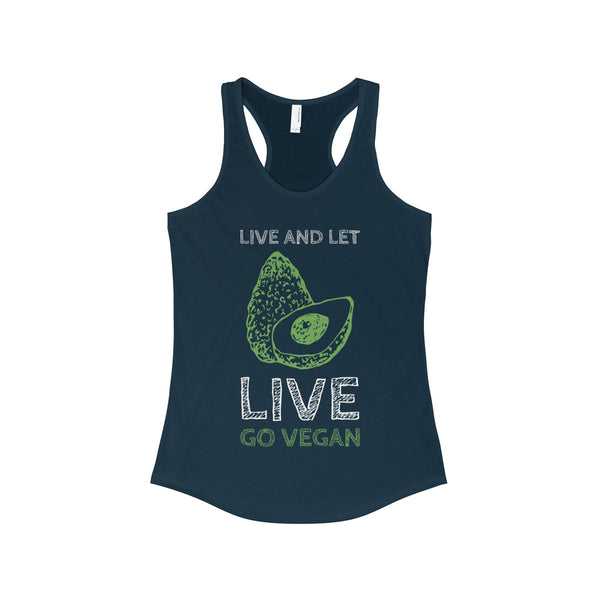 Avocado Go Vegan Women's Ideal Racerback Tank - DaVatka Fashion