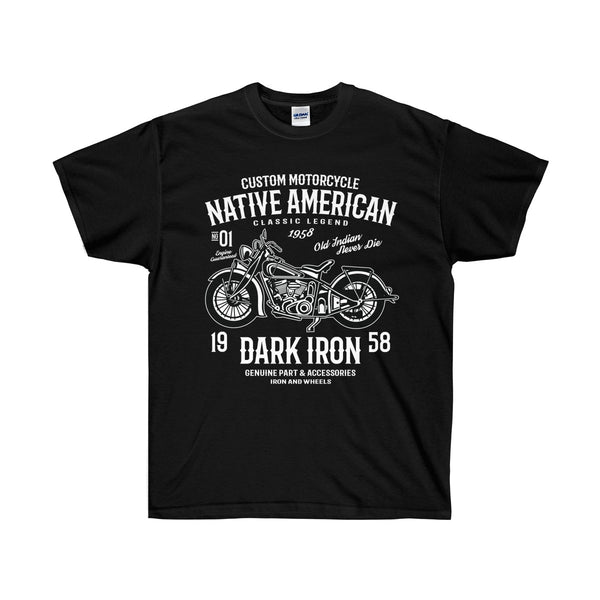 Dark Iron Biker Shirt Unisex Ultra Cotton Tee - DaVatka Fashion