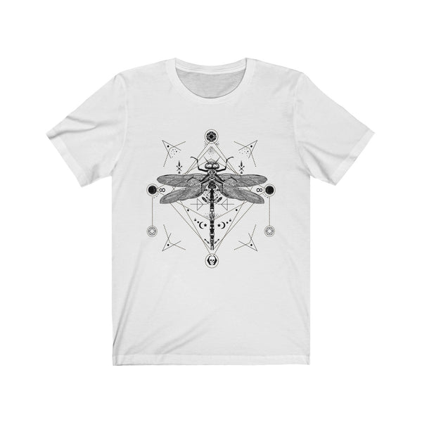 Dragonfly Boho Sacred Geometry Unisex Jersey Short Sleeve Tee - DaVatka Fashion