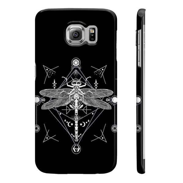 Dragonfly Gothic Occult Slim Phone Cases - DaVatka Fashion
