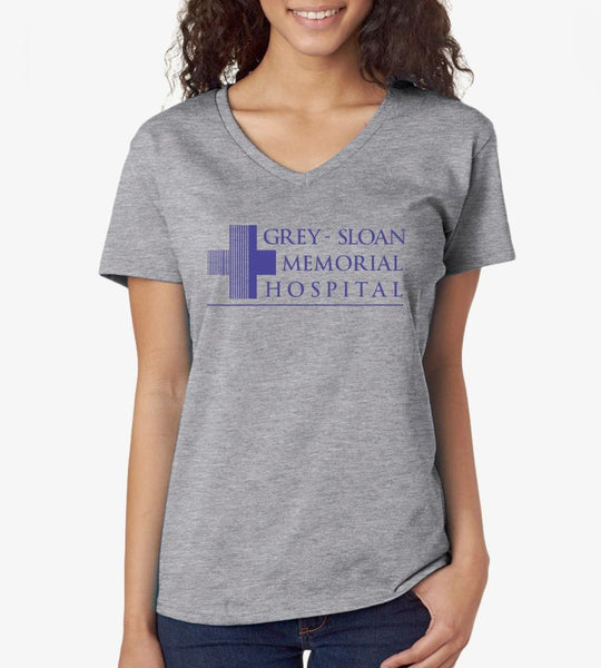 Greys Anatomy Grey Sloan Hospital V-neck - DaVatka Fashion