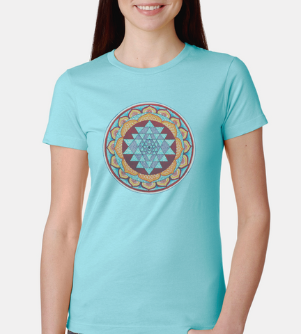 Sri Yantra Mandala Women's The Boyfriend Tee - DaVatka Fashion