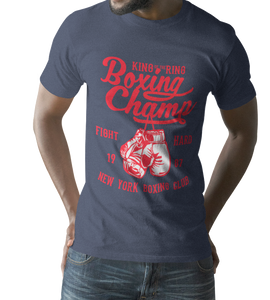 Boxing Champ Men's Fitted Short Sleeve Tee - DaVatka Fashion