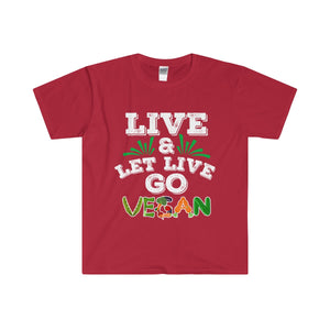 Live And Let Live - Go Vegan Men's Fitted Short Sleeve Tee ML - DaVatka Fashion