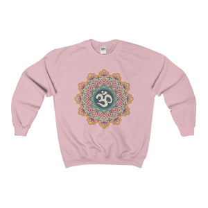 Om Mandala Unisex Heavy Blend™ Crewneck Sweatshirt - DaVatka Fashion