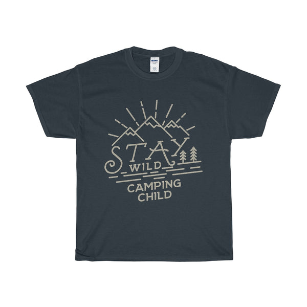 Stay Wild Camping Child Unisex Heavy Cotton Tee - DaVatka Fashion