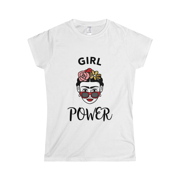 Girl Power Frida Kahlo Women's Softstyle Tee - DaVatka Fashion