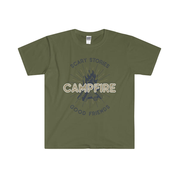 Campfire Men's Fitted Short Sleeve Tee - DaVatka Fashion