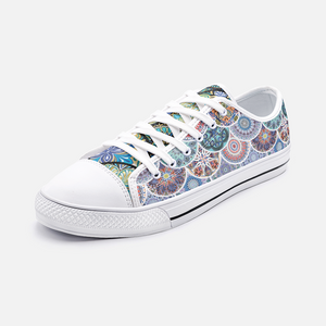 Boho Ornament Gypsy Unisex Low Top Canvas Shoes
