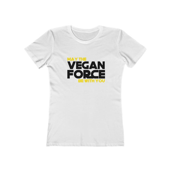 May The Vegan Force Be With You Women's The Boyfriend Tee - DaVatka Fashion