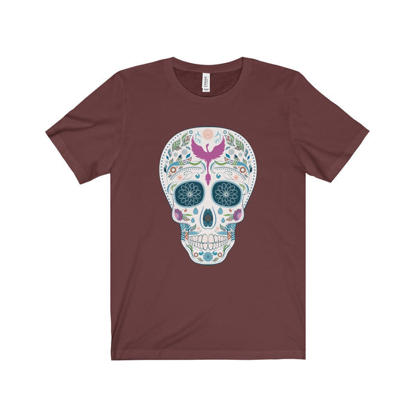 Sugar Skull Unisex Jersey Short Sleeve Tee ML - DaVatka Fashion