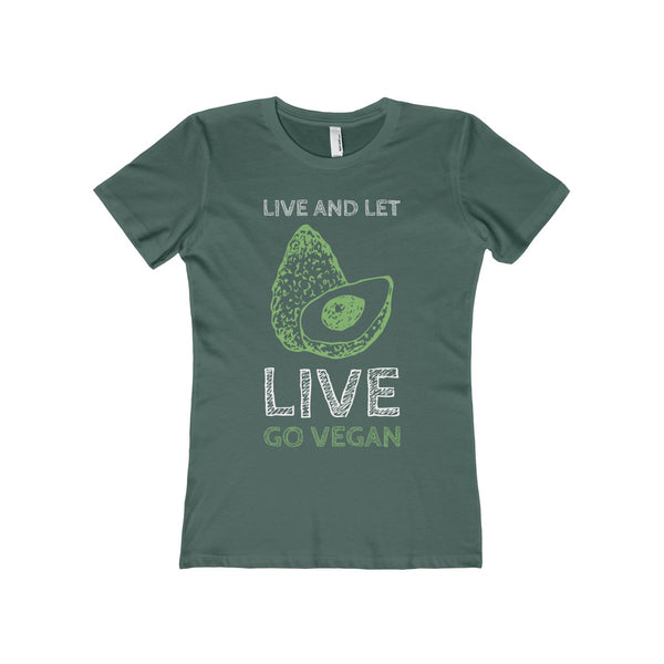 Go Vegan - Live and Let Live Women's The Boyfriend Tee - DaVatka Fashion