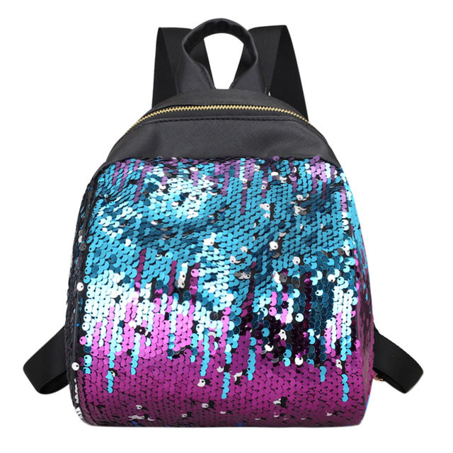 Women Sequins Backpack BlingBling School Bags for Teenage Girls Ruckack Mochila Small Leisure Travel Bag Mini Backpack Backpacks - DaVatka Fashion