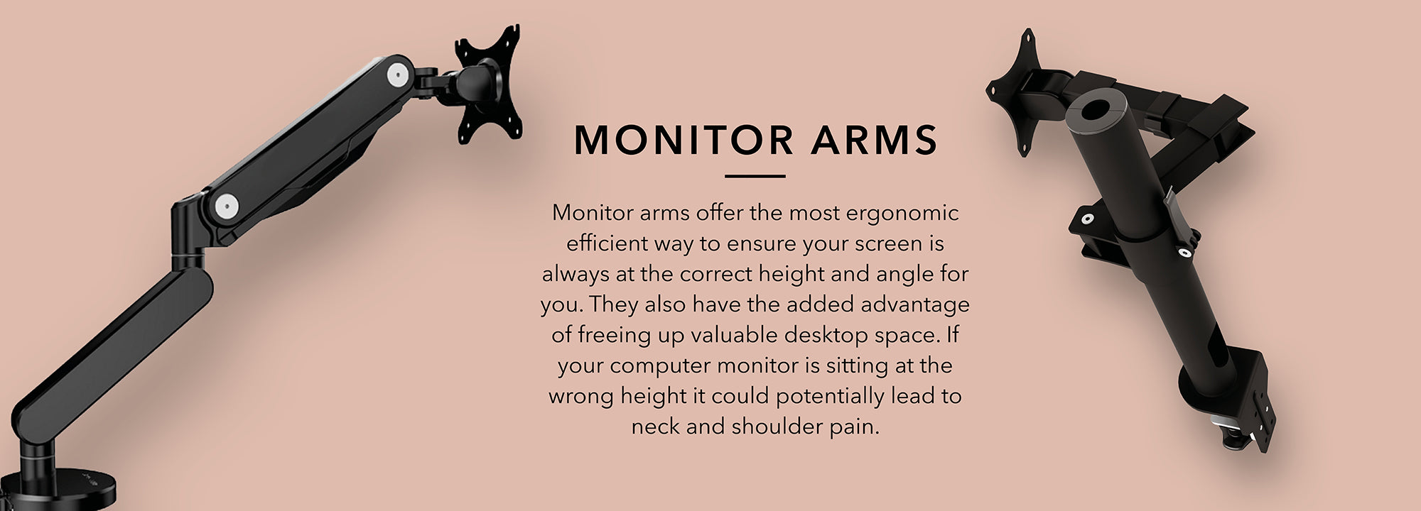 Monitor arms ergonomic efficient way to ensure your screen is always at the correct height