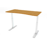 FLAIR 1.1 White c/w Bamboo Ergo Desk Top